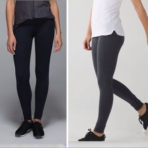 x 2 lululemon basic leggings